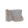 Signature shoulder bag-grey/gold-designed by alexandra koumba
