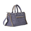 Signature Voyager Bag-Purple grey/gold-Designed by alexandra koumba