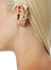 Spine ear cuff in gold designed by Alexandra Koumba