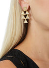Tri Chandelier Ear gold designed by Alexandra Koumba