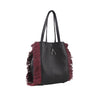 WB Fringe Shop bag-Black/Burgundy-Designed by alexandra koumba
