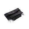 Fringe Randal Clutch-Black-Designed by alexandra koumba