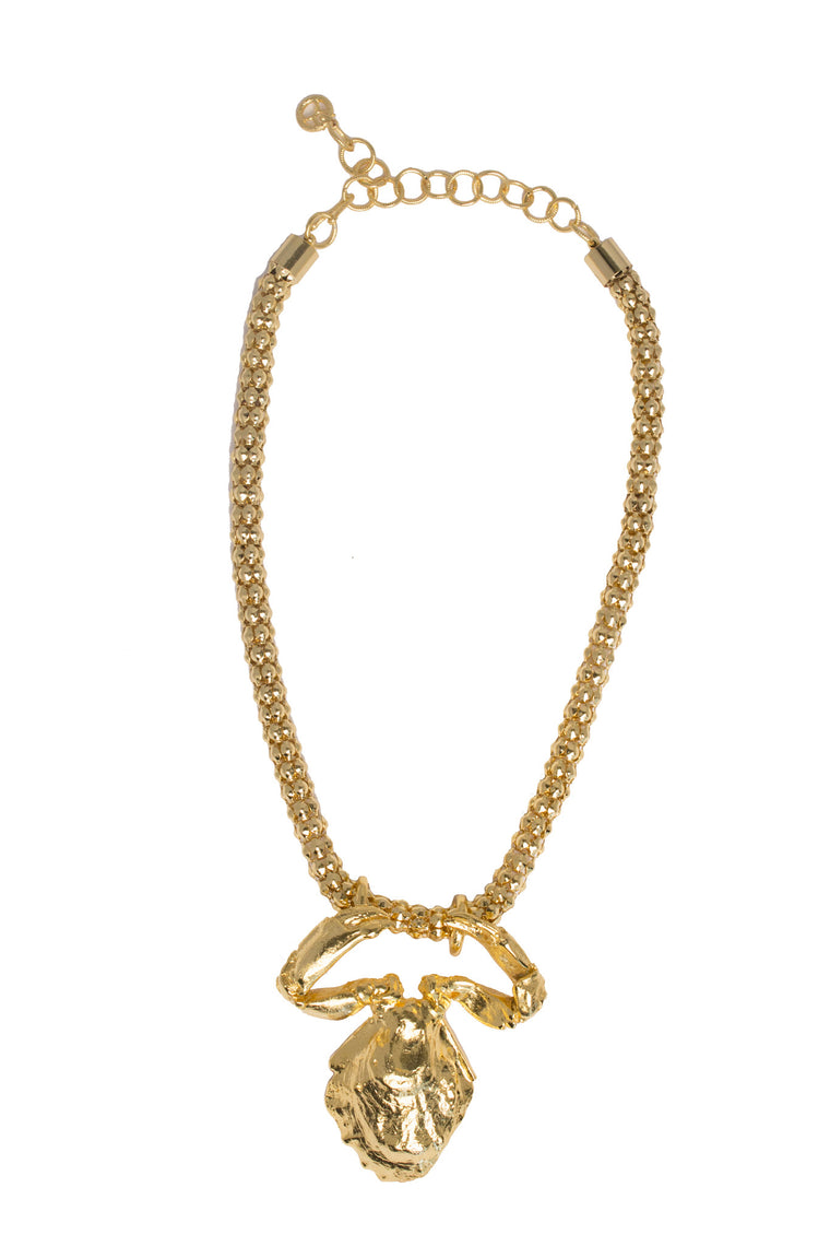 Sea Life Necklace in Gold Design by Alexandra Koumba