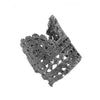 Timothea lace cuff in gun metal Designed by Alexandra Koumba