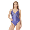 Xenia-one piece-swimsuit-metallic Purple-detail-designed-by-Alexandra Koumba