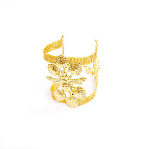 Abelia Cuff in gold Design by Alexandra Koumba