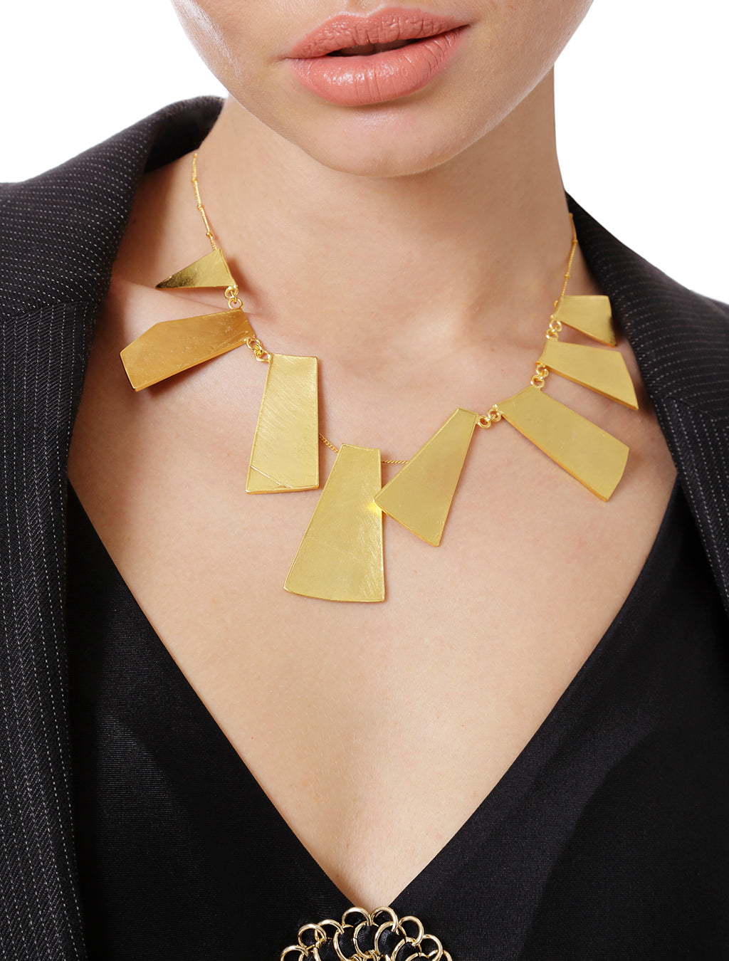 Alexandria Necklace gold/black enamel designed by Alexandra Koumba.