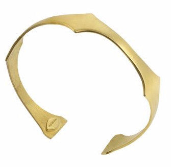 Amazon plain bracelet in Gold -Designed by Alexandra Koumba