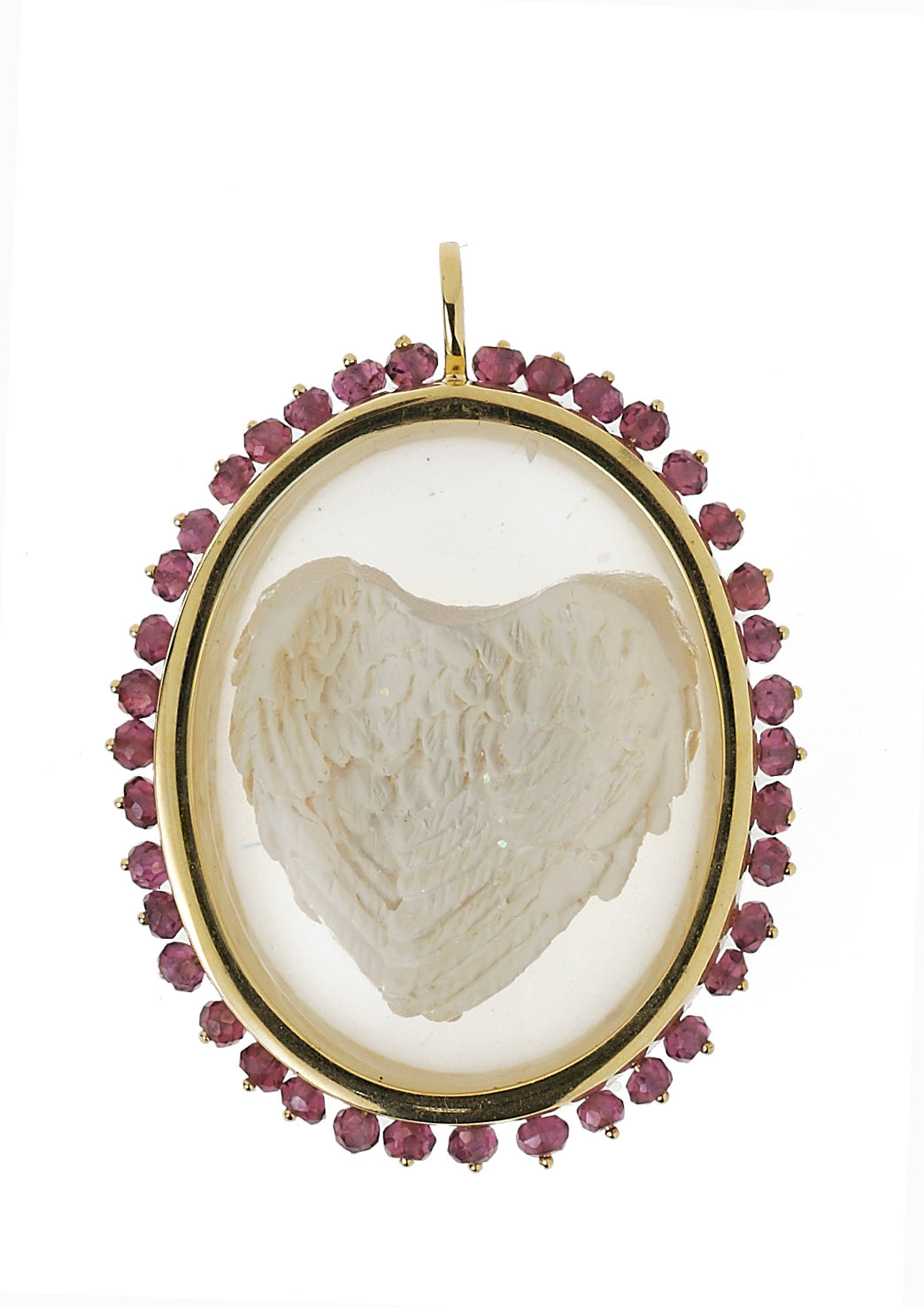 Angel Heart with stones