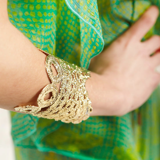 Avalon small Cuff-gold-designed by alexandra koumba