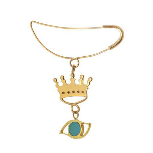 Baby Crown Pin in Gold Design by Alexandra Koumba