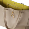 Wb med shop bag- Beige/Lime suede interior-Designed by alexandra koumba