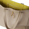 WB Shop Bag-beige/lime/silver-designed by alexandra koumba