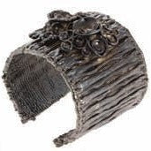 Botanica cuff in Gun Metal Design by Alexandra Koumba