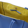 Wb med shop bag- bluette/lime suede interior-Designed by alexandra koumba