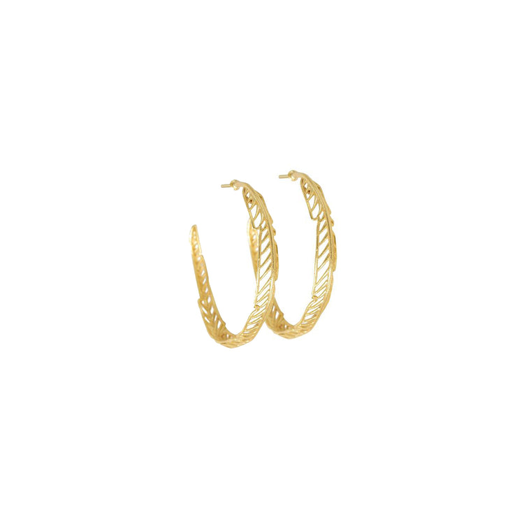 feather hoops-gold-designed by alexandra koumba