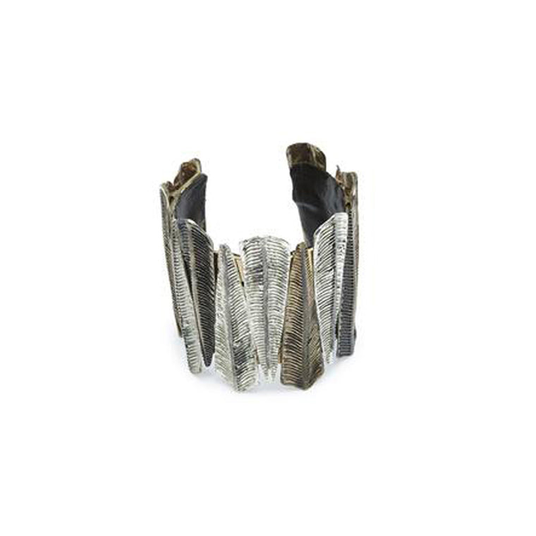 fern cuff-black-designed by alexandra koumba