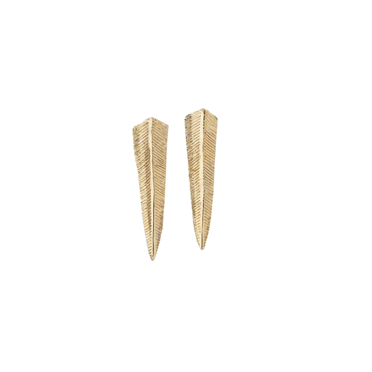 fern earrings-gold-designed by alexandra koumba