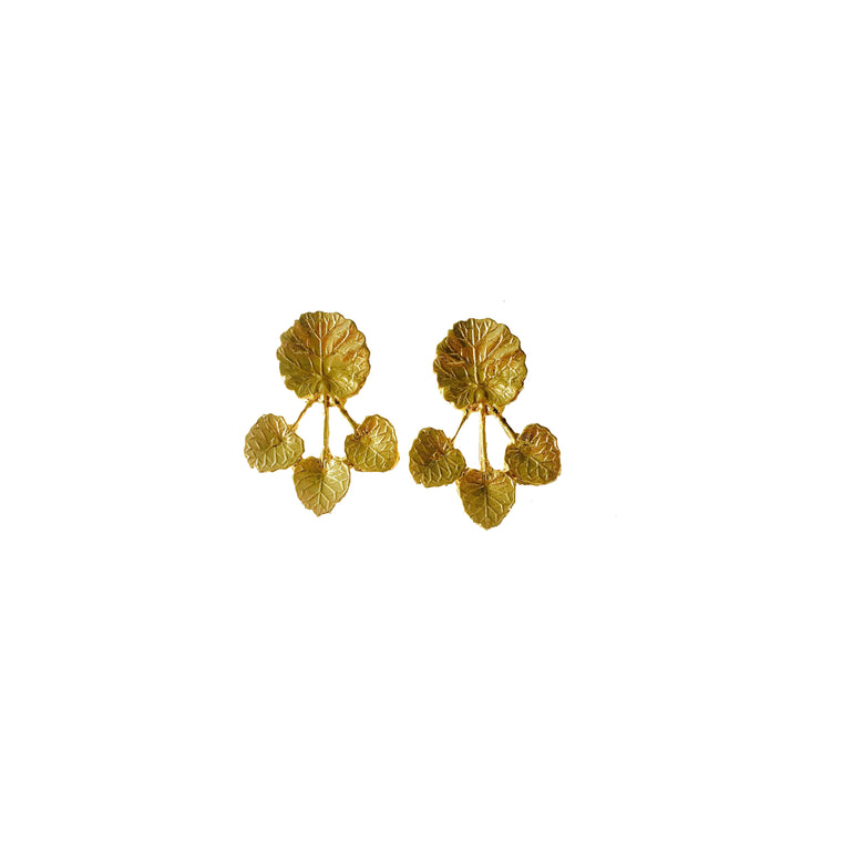 ivy earrings-gold-designed by alexandra koumba