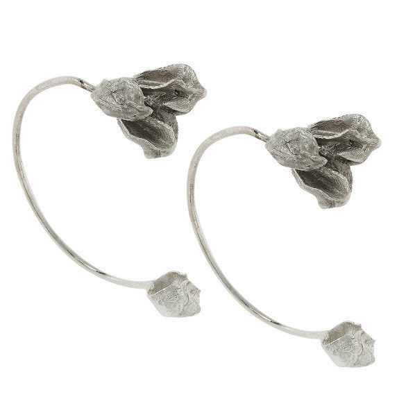 Karpoi Ear cuffs in Silver Design by Alexandra Koumba
