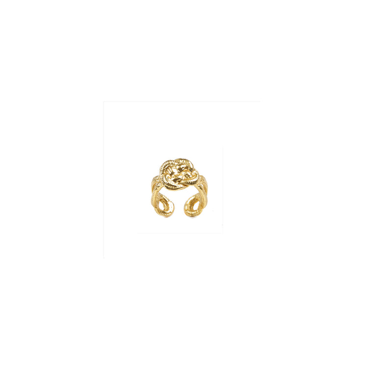 knot pinky ring-gold-designed by alexandra koumba