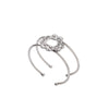 mini randal circle bracelet-silver antique-designed by alexandra koumba