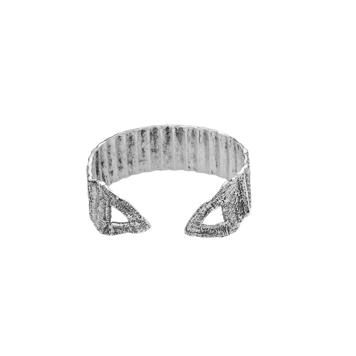 Tri Ribbon Bracelet-silver antique-designed by alexandra koumba
