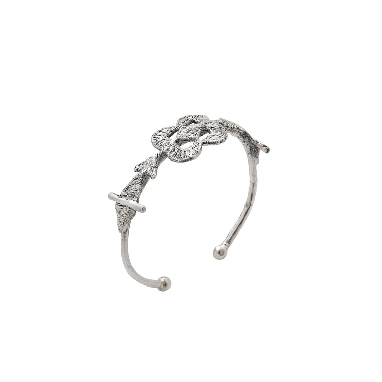tri flower bracelet-silver antique-designed by alexandra koumba