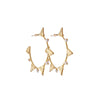 Tri hoop pearl earrings-gold-designed by alexandra koumba