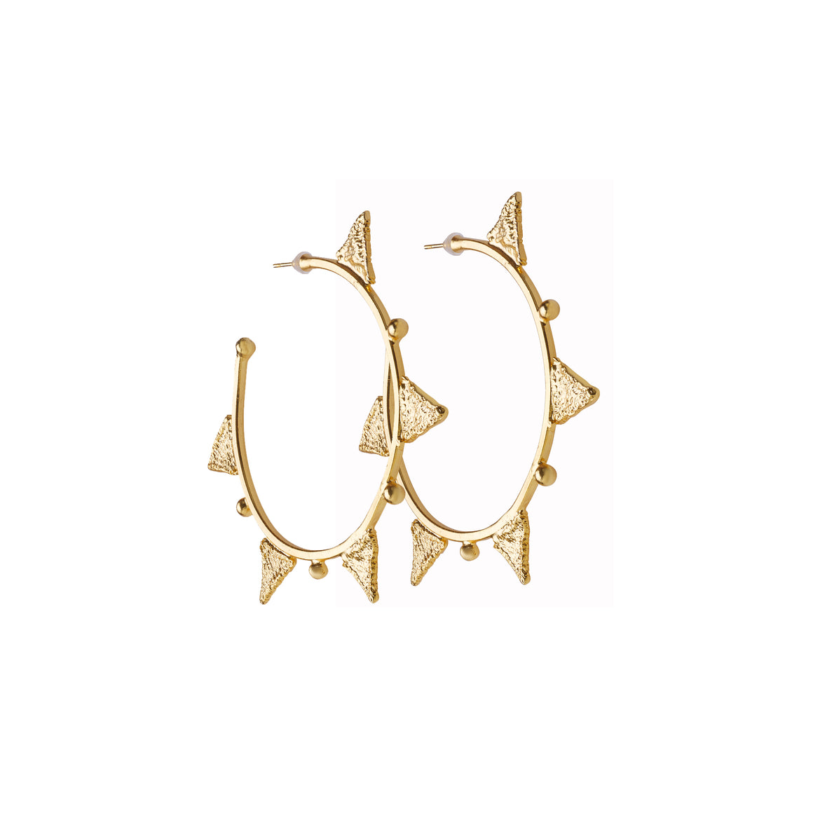 Tri hoop earrings-gold-designed by alexandra koumba
