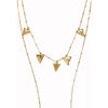 Tri hang necklace-gold-designed by alexandra koumba