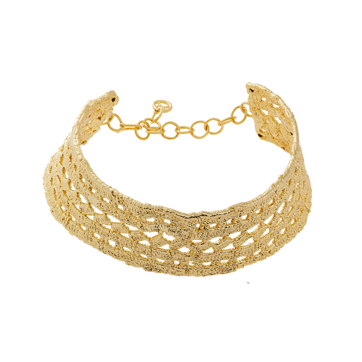 Lace Choker-gold-designed by alexandra koumba