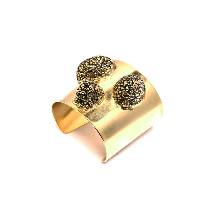 Lichee Cuff in Gold Design by Alexandra Koumba