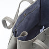 Wb med shop bag- Light grey/Lavender suede interior-Designed by alexandra koumba