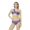 Midnight blue with silver chain swimwear designed by Alexandra Koumba