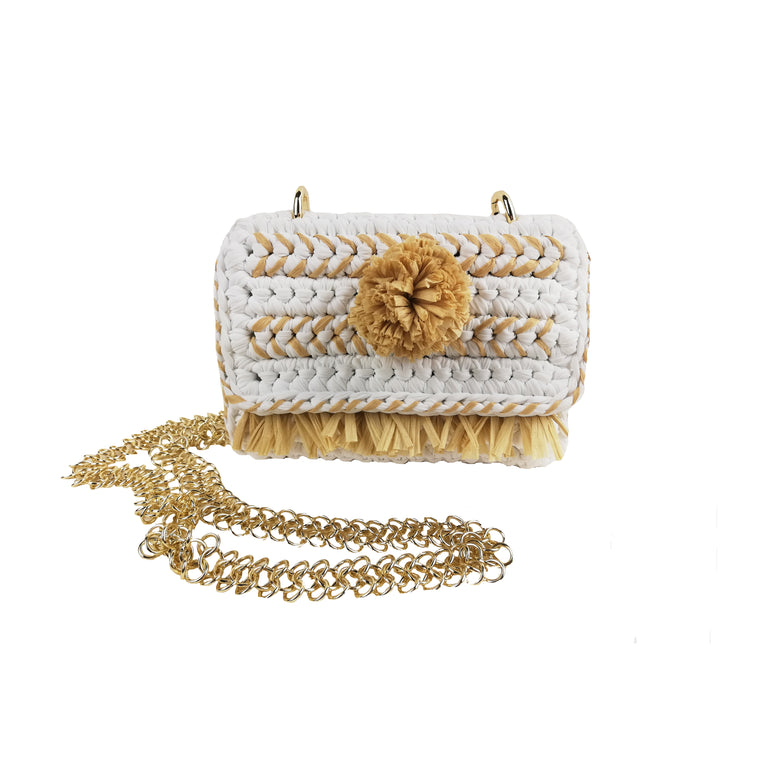 Mini-chi-pom-pom-fringe-white-cross body-designed-by-alexandra-koumba