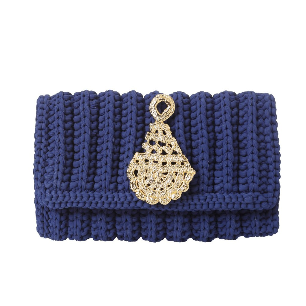 Morgana-clutch-navy-blue/gold-designed-by-alexandra-koumba
