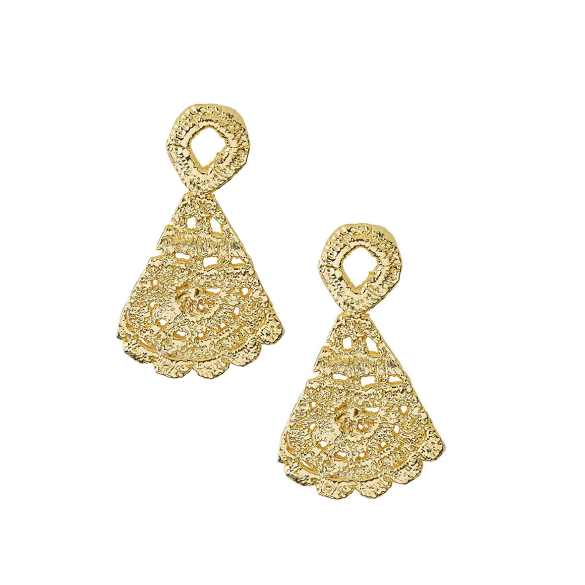 Morgana Earrings in Gold Design by Alexandra Koumba