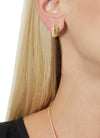 Mussel Stud Earring in Gold Design by Alexandra Koumba