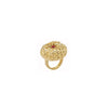 Pine Ring-Gold-with-Coral-Designed by alexandra koumba