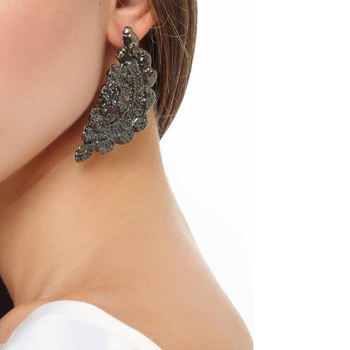 Randal Earrings in Lace Crochet - Alexandra Koumba Designs