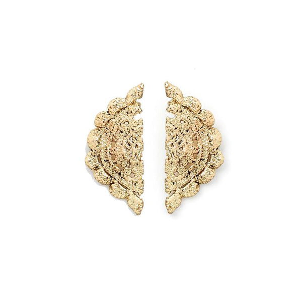 Randal Earring ingold in Lace Crochet Design by Alexandra Koumba