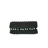seville clutch with stones-black/turquoise-designed by alexandra koumba