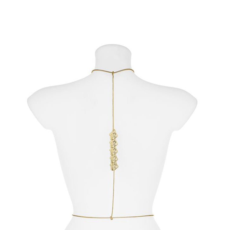 Spine Back Harness-gold-designed by alexandra koumba