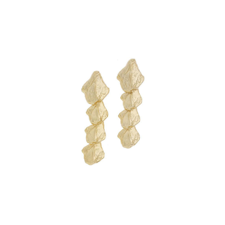 Spine Earrings in Gold Design by Alexandra Koumba