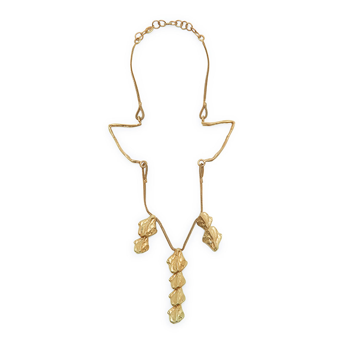 Spine Resting Necklace in Gold Design by Alexandra Koumba