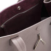 WB Shop Bag-Taupe/burgundy/silver-designed by alexandra koumba