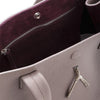 Wb med shop bag- Taupe/burgundy suede interior-Designed by alexandra koumba
