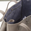 Wb med shop bag- Taupe/Lavender suede interior-Designed by alexandra koumba