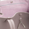 Wb med shop bag- Taupe/pink suede interior-Designed by alexandra koumba